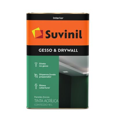 Tinta Fosco Interior Gesso e Drywall 18L Branco