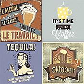 Revestimento Decorado Quarter DC Drink 20,3x20,3cm