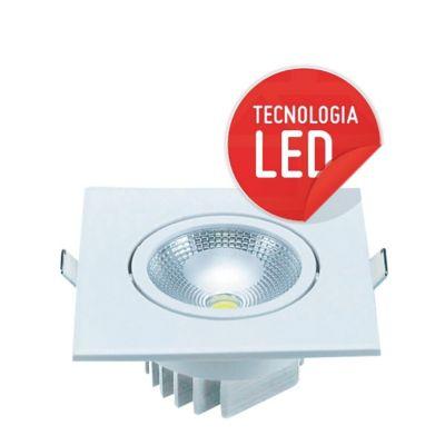 Spot de Embutir Mini Redondo COB 5W 3000K Luz Amarela Bivolt