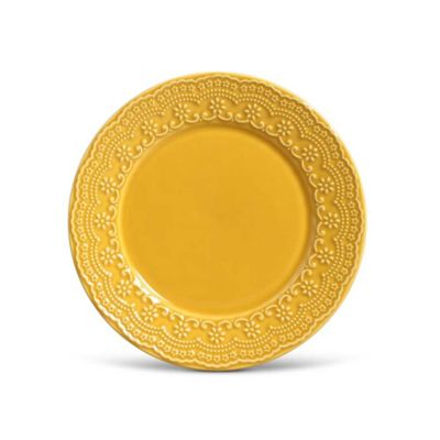 Prato Raso 26cm Madeleine Amarelo