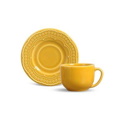 Xícara de Chá com Pires Madeleine Amarelo