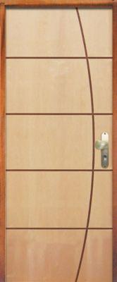 Porta Montada de Giro Madeira Sarrafeada Curupixa Natural Direita 210x82x11cm ES 65