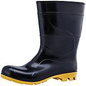 Bota de PVC n35/36 Cano Médio com Forro Preto e Amarelo