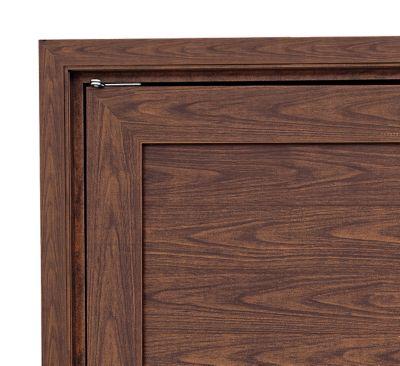 Guarnição Aluminio para Porta Pivotante 216x100x4cm Abertura Vidro Cerejeira Real Alumifort