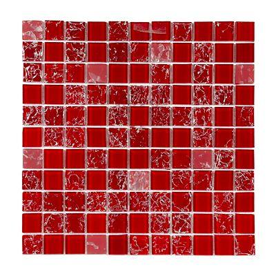 Pastilha Vidro Color Vinho Vermelho Queimado 29,5x29,5