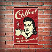 Placa Decorativa Coffe Retro Colorido