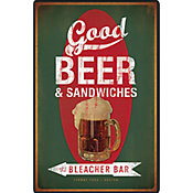 Placa Decorativa Good Beer e Sandwiche Colorido