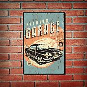 Placa Decorativa Premium Garage 29x19cm Azul