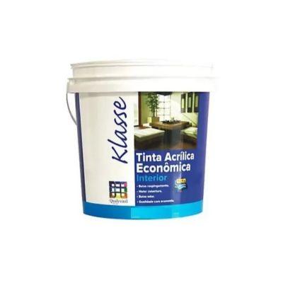Klasse Tinta Acrílica Econômica Fosco 3,6L Branco