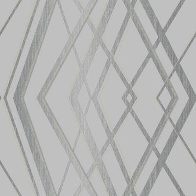 Papel de Parede Helena Geométrico 10x0,53m Cinza