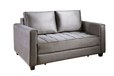 Sofa Cama de Casal Leon Cinza