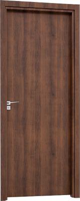 Porta de Giro Interna Banheiro Abertura Lado Direito 215x78cm Mogno