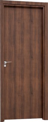 Porta Interna Fechadura Externa Alumínio Mogno Direita 215x88x10cm Aluminium