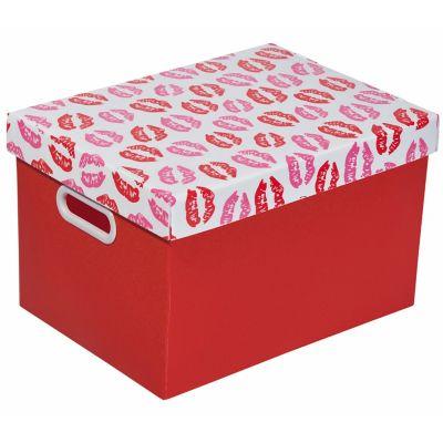 Caixa Organizadora Kiss Media Vermelho