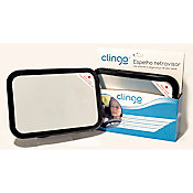 Espelho Retrovisor Retangular Square para Automóvel Preto