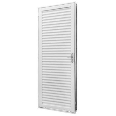 Porta Veneziana Aço Branco Direita 215x83x6cm Qualitysol