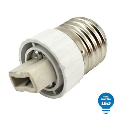 Soquete Adaptador de Lâmpada LED de E27 para G9 Bivolt Branco