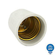 Soquete Adaptador de Lâmpada LED GU10/GZ10 para E27 Bivolt Branco