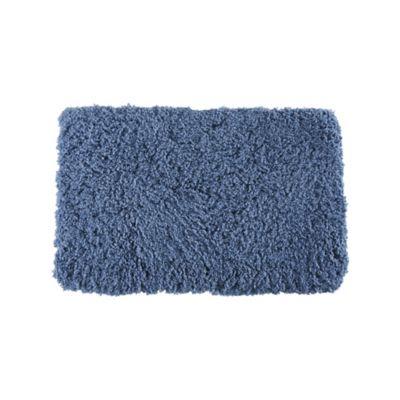 Tapete de Banheiro Peludo 50x80cm Azul