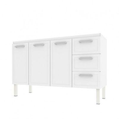 Gabinete de Cozinha Apolo Flat 91x144cm Branco