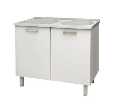 Gabinete Flat 89,3x95x54,5cm com Tanque Branco