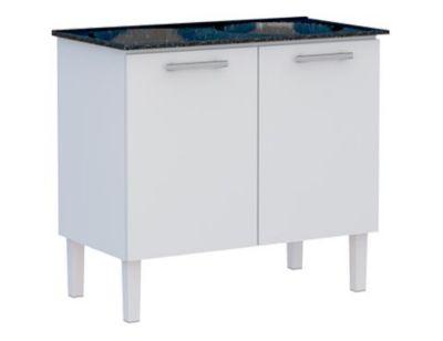 Gabinete Flat 89,3x56,9x54,5cm com Tanque Branco e Preto