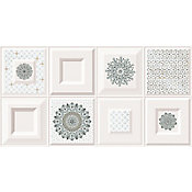 Revestimento Alborg Winter REF-2891 33,8x64,3cm Caixa 1,52m² Branco