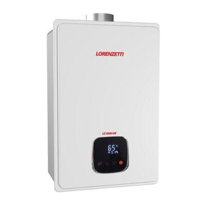 Aquecedor de Água a Gás GLP 45L/min Digital Branco LZ 4500 DE Lorenzetti