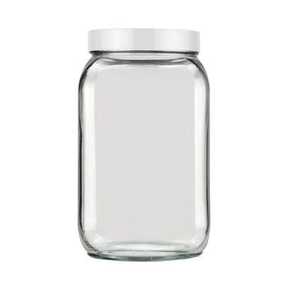 Pote de Vidro Quadrado 2L Colorido