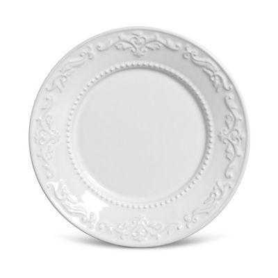 Prato de Sobremesa Acanthus 20,5cm Branco