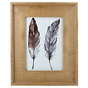 Porta Retrato Wood Gold Madeira 13x18cm