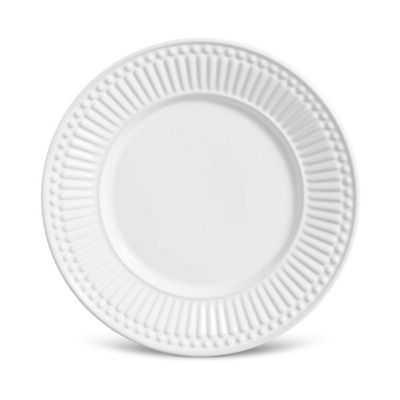 Prato Sobremesa Roma Cerâmica Branco