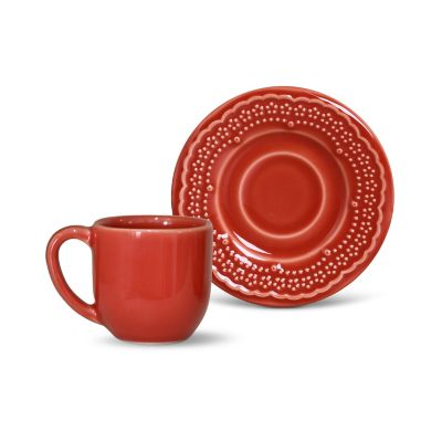 Xícara de Café Madeleine 72ml Vermelho