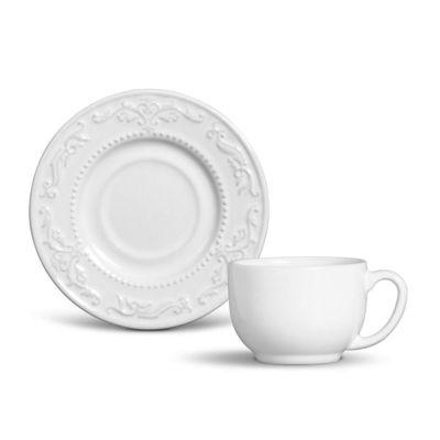 Xícara de Chá Acanthus 8cm Branco