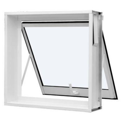 Vitro Maxim-Ar de Aço Vidro Liso 60x80cm Branco Qualitysol
