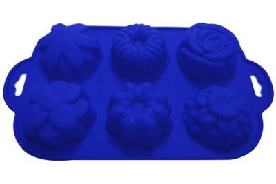 Forma para Cupcake Diversas de Silicone Azul