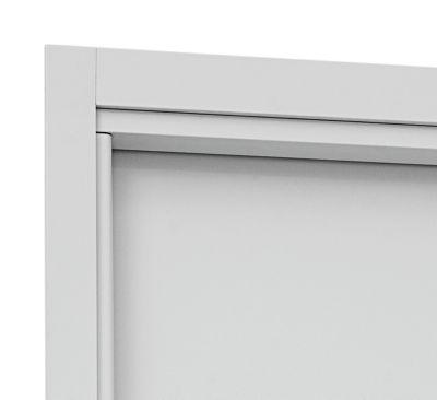 Guarnição Aluminio para Porta Interna Banheiro 215x78 batente 10a12cm e 14a16cm Branco Aluminium