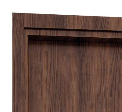 Guarnição Aluminio para Porta Interna Banheiro 215x78 batente 12a14cm e 16a18cm Mogno Aluminium