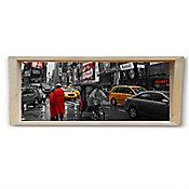 Quadro Moldura Cofre Nova York I 20x50cm