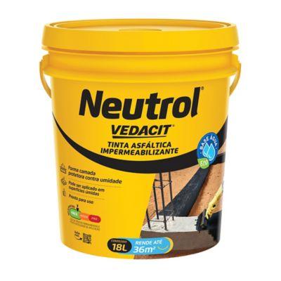 Impermeabilizante Neutrol Acqua Lata 18L Preto