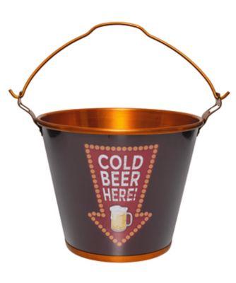 Balde para Gelo Cold Beer Here 20,5x25x25cm 5 Litros Vermelho