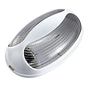 Luminária Tartaruga Oval Bivolt Branco