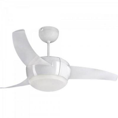 Ventilador de Teto 3 Pás Vortice LED com Controle Remoto 127V Branco