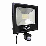 Refletor Holofote 50W Slim com Sensor Branco Frio Bivolt