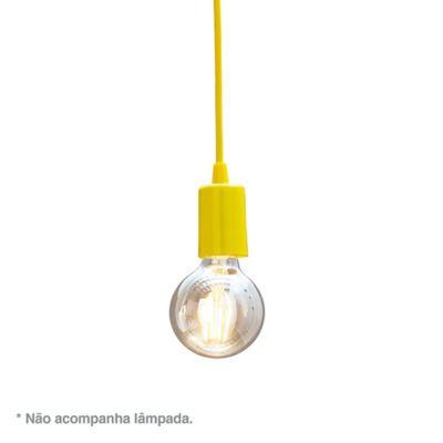 Pendete Orbital 6x15cm Bivolt Amarelo