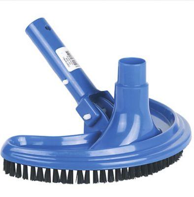 Vassoura Curva de Plástico para Limpar a Piscina de 45cm Azul