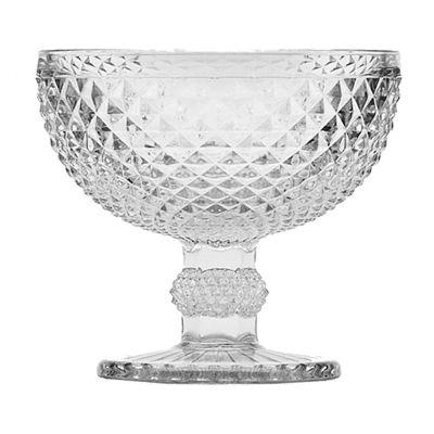 Taça de Vidro para Champagne Cupe Bico de Jaca 300ml Transparente