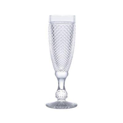 Taça de Vidro para Champagne Bico de Jaca 185ml Transparente