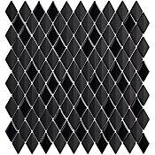 Mosaico Prosa Diamond Black Mate Lux 30x30cm Preto