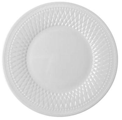 Prato Raso 28cm Alizee Perle Branco